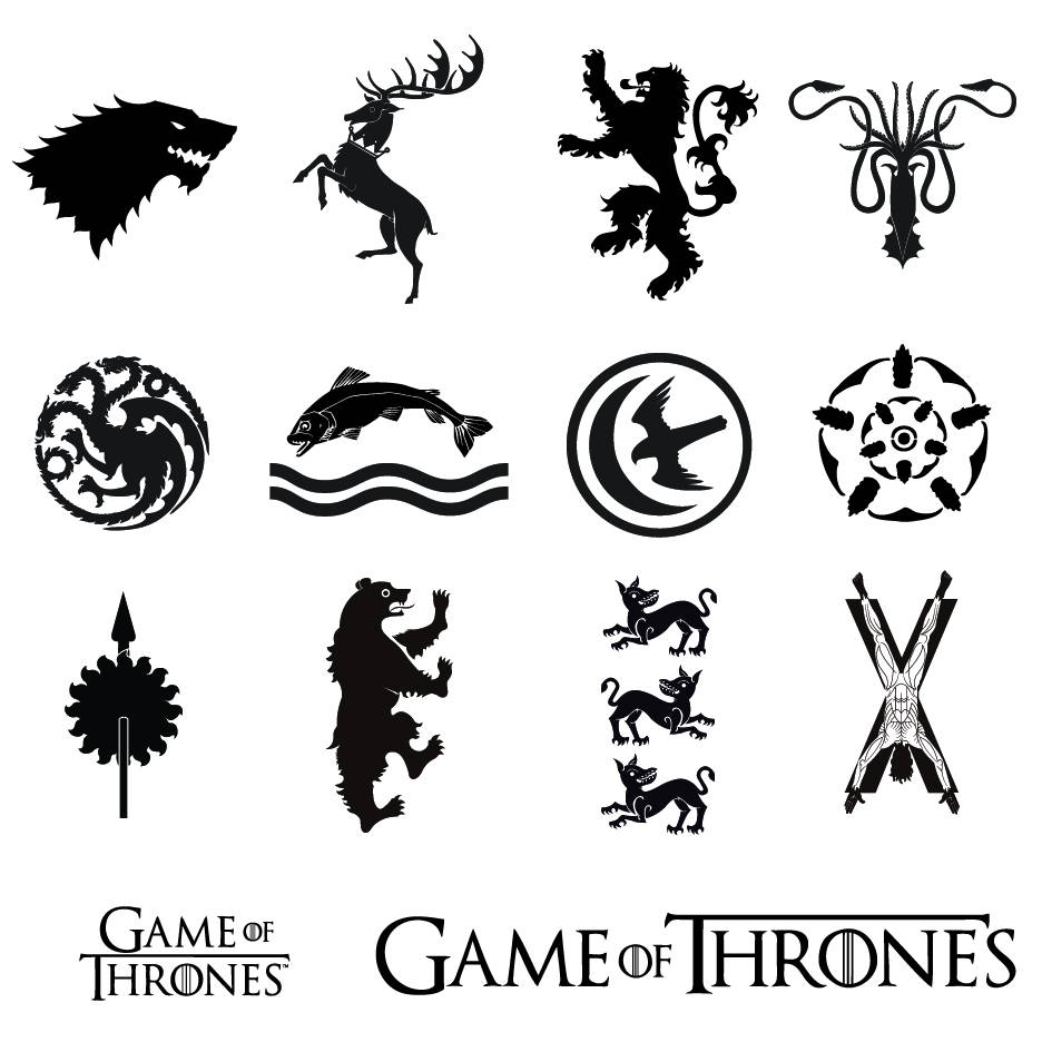 Game of Thrones Sigils/Logos SVG/PNG/EPS/ Files Stark   Etsy