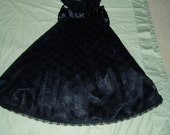 Vintage Gunne Sax Black Lace and Taffeta Evening Gown
