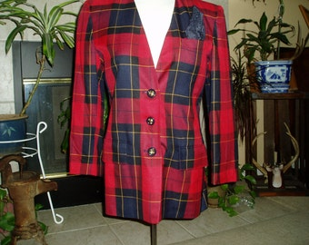 Vintage Red Paid Jacket