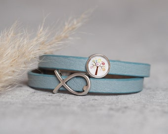 Personalized Leather Bracelet | Confirmation | Communion | Baptism | Confirmation | Birthday | Tree