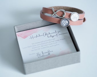 Personalized leather strap with personalized gift box   Confirmation   Communion   Baptism   Confirmation   Birthday   schooling