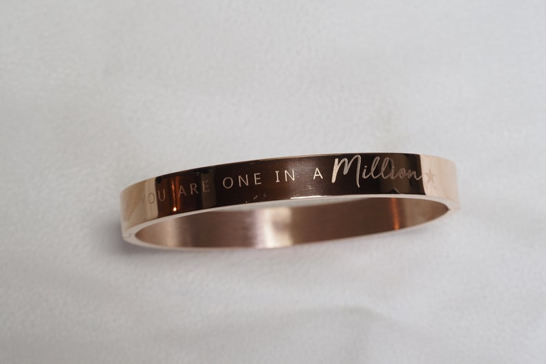 Rosegold bangle You are one in a million  image 0