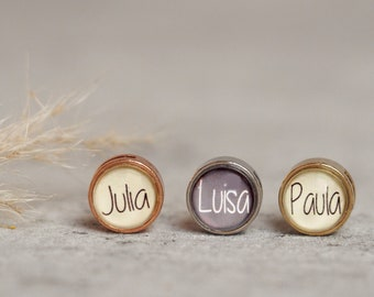 Personalized sliding bead with desired name   Photo Bead   Children's Name   personalized pearl with name
