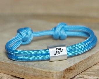 Personalized sports bracelet handstamped |  Runners | Marathon | Triathlon