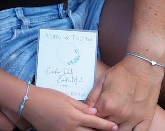 Mother & Daughter Bracelet   Hearts   Friendship bracelet   Love   Mother Daughter