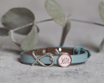Personalized leather strap | Confirmation | Communion | Baptism | Confirmation | Birthday | Schooling