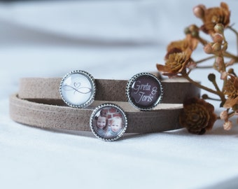 Personalized leather strap with photo | Family | Valentine's Day | Mother's Day | Birthday