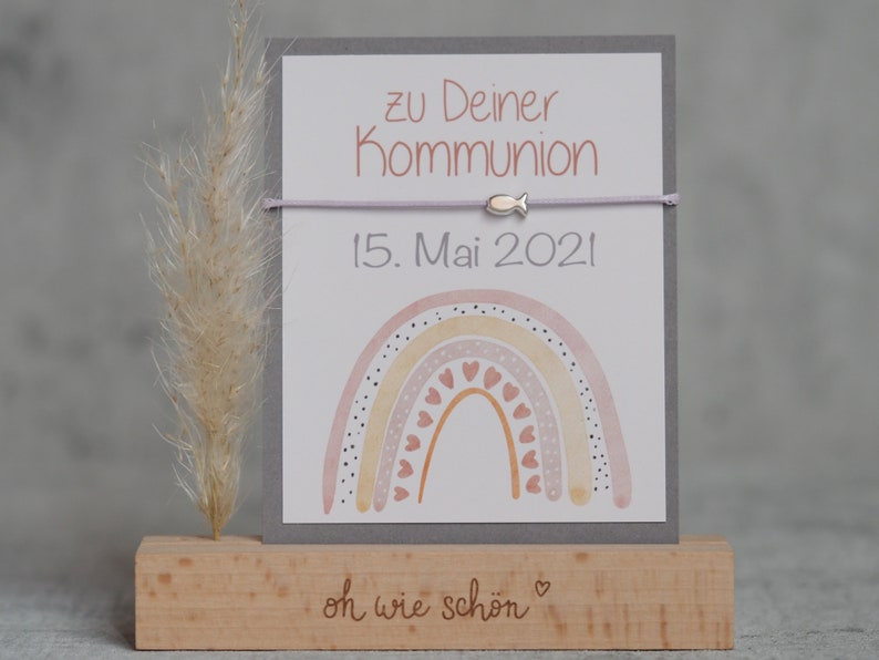 Bracelet confirmation with personalized card  Confirmation  image 0
