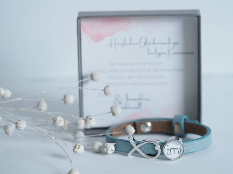 Personalized leather strap with personal gift box  image 1