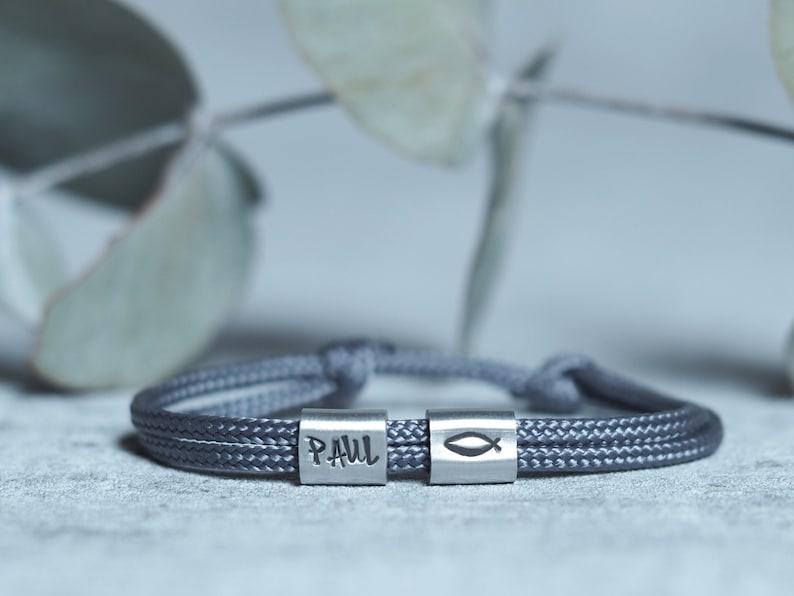 Bracelet Personalized with Engraving HandStamped for Baptism image 0