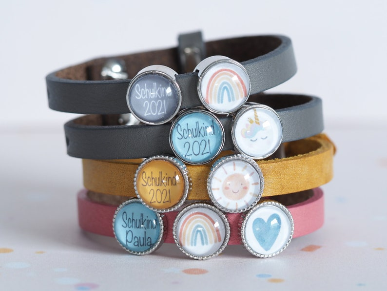 Personalized leather strap with 2 sliding beads for training  image 0