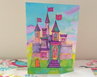 Princess Castle Greetings Card