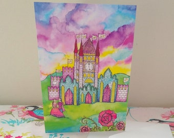 Fairytale Castle Greetings Card
