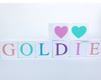 Rainbow Letter Name Blocks