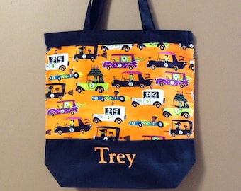 Trick or Treat Bags, Halloween, Halloween Tote Bag, Trick or Treat Tote, Handmade, Candy Treat Bag, Halloween Candy Bag, Trick or Treat