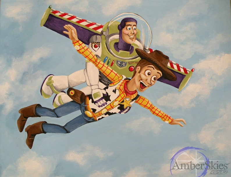bfb9a14ad3b Falling with Style- Toy Story Pixar Art Print