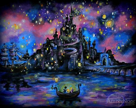 I See The Light Tangled Rapunzel Floating Lanterns Disney Etsy