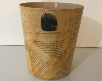 Harry Potter Wastebasket - Trash Can - Book Pages - Free US Shipping