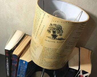 Harry Potter Lamp Shade - J. K. Rowling - Book page lamp shade - Free Shipping in US