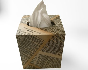 Bible pages Tissue Box Cover - Free Shipping in US