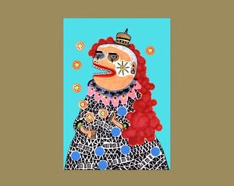 Postcard Clown