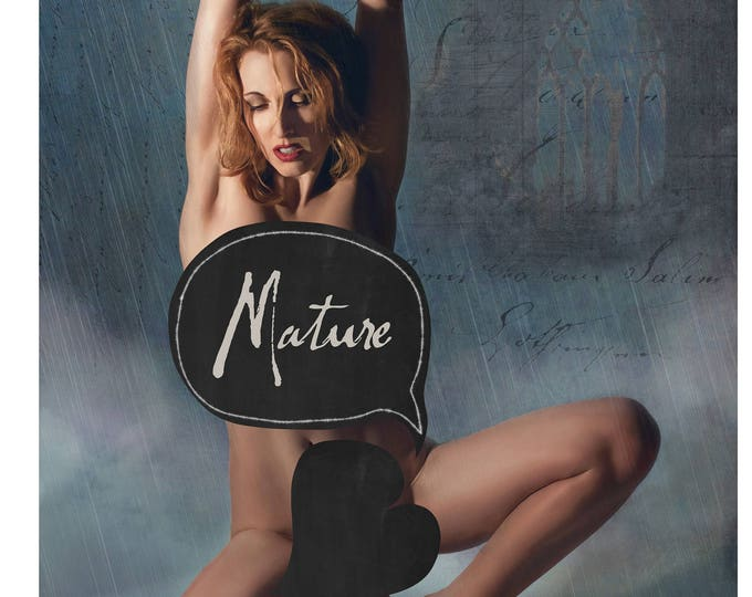 BDSM Art, Submissive, Kinky Art, Fetish Art, Nude Woman Art, Nude Female, Leather Cuffs, Erotica, Erotic Art, Kink, Mature, Lesbian Art,