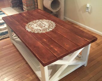 Rustic Coffee Table & Rustic coffee table | Etsy