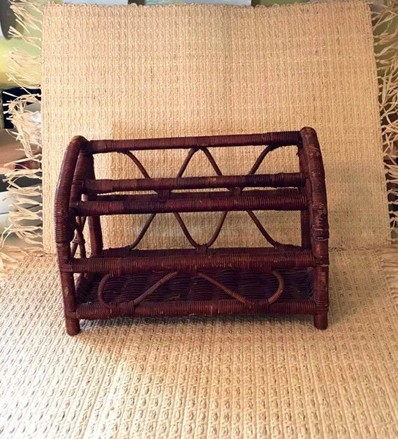 Swell Vintage Wicker Desk Organizer Gmtry Best Dining Table And Chair Ideas Images Gmtryco