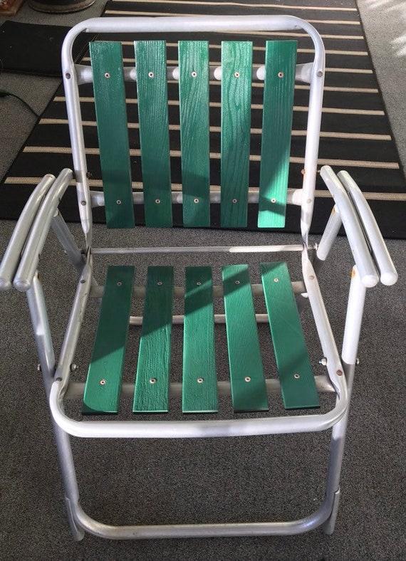 Brilliant Vintage Wood Aluminum Folding Chair Machost Co Dining Chair Design Ideas Machostcouk