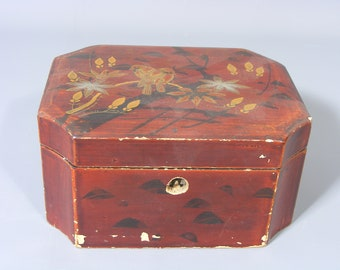 Vintage Mid Century Covered Granite  box Jewelry  KitchenStorageGift Retro Home Decor