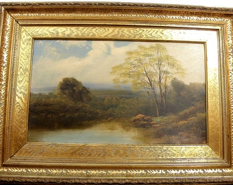b1fdbaaa0c4c Large Antique Gilt Framed Oil Painting