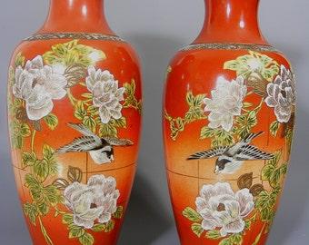Japanese Satsuma Vases, Pair Of Vases, Antique Vase, Japanese Vase, Satsuma Vase, Antique Japanese Vases, Large Vases, Satsuma Ware, Vases
