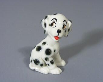 Vintage Wade Dalmatian, Simon The Dalmatian, Wade Pottery, Wade Whimsie, Wade Dalmatian, Dalmatian figure, TV Pets, Wade, Free UK Postage