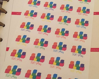Soft Play Planner Stickers