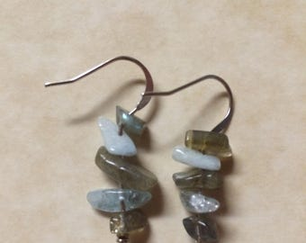 Blue Quartz & Labradorite Earrings