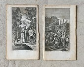 Antique Engravings by Fourdrinier of Roman Scenes, 8 total, Ca 1720.