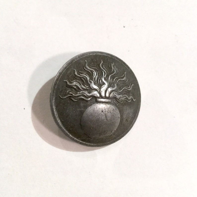 French WWI Military Button, Gendarme Uniform Button, Ca: 1915