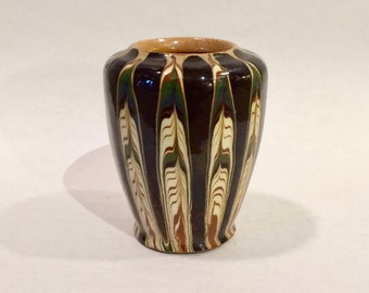 French Art Pottery Cabinet Vase, Ca: 1930s.