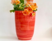 Modern Flower Vase/Utensil Crock in Sunset