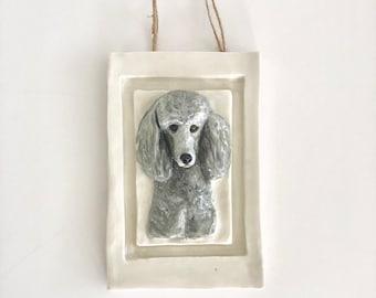 Custom Dog Gift, Dog Portrait, Dog Plaque, New Pet Gift, Dog Memorial, Dog Sculpture, Dog Memorial, Pet Gift, Pet Loss Gift, Pet Memorial