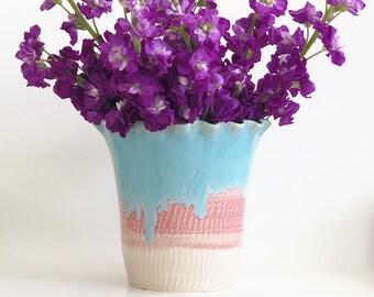 Vases for Flowers, Vases Decor, Porcelain Vase, Pastel Pottery Vase, Cottage Core Decor, Flower Vase, Porcelain Vase Flowers, Dining Decor