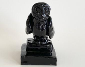 Owl Sculpture, Owl Trinket, Black Owl, Owl Handmade, Office Decor, Owl Art, Owl Decor, Owl Lover, Black Owl Art, Owl Gift, Modern Owl