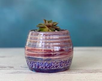 Flower Pot, Purple Planter Pot, Planter Pot, Succulent Pot, Small Purple Flower Pot, Indoor Planter Pot, Mini Planter, Small Planter