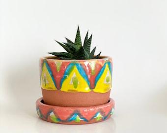 Small Planter, Terracotta Pot, Planter Drainage, Small Pot, Cactus Pot, Succulent Pot, Plant Pot, Flower Pot, Planter Pot, Ceramic Planter