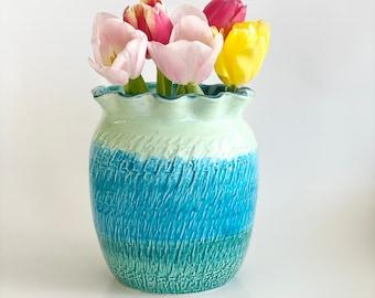 Flower Vase, Bud Vase, Cute Vase, Pretty Vase, Boho Vase, Pastel Vase, Boho Vase, Turquoise Vase, Aqua Vase, Bud Vase, Ombre Vase