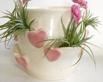 Strawberry Pot, Strawberry Planter,  White Strawberry Pot, Planter for Strawberries, Ceramic Strawberry Jar, Handmade Strawberry Pot