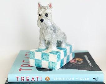 Schnauzer Paperweight, Schnauzer Sculpture, Schnauzer Statue, Schnauzer Lover Gift, Dog Lover Gift, Schnauzer Christmas Gift, Schnauzer Gift