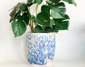 Pink Flower Pot, Housewarming Gift, Mom Gift, Friendsgiving, Plant Mom Gift, Pink Planter Pot, Pink Planter, Plant Mom, Ceramic Planter