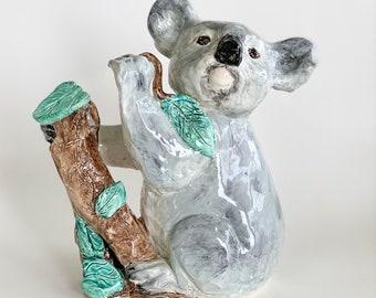 Koala Statue, Koala Paperweight, Koala Art, Koala Sculpture, Australian Koala, Koala Gift, Koala Lover Gift, Handmade Koala, Koala Bear