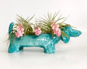 Dachshund Planter Pot With Drainage  - Hand Sculpted